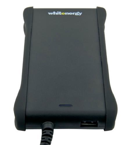 Whitenergy Zasilacz uniw.90W 15-20V USB, Slim, 8 wtyczek