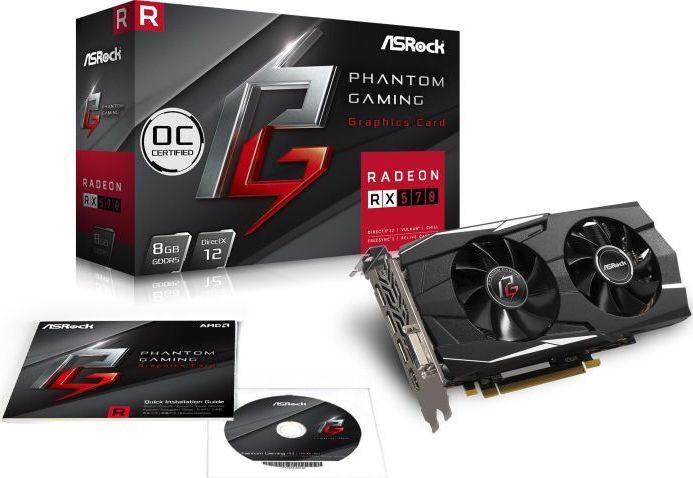 ASRock Phantom Gaming D Radeon RX570 8GB GDDR6 (Phantom G D Radeon