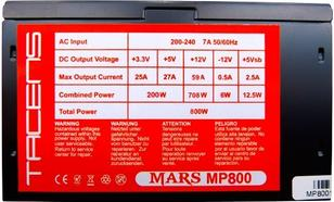 Tacens MARS GAMING MP 800W 85PLUS BOX