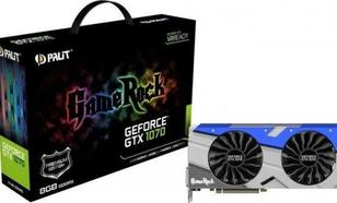 Palit GeForce GTX 1070 Gamerock 8GB DDR5 (256 Bit) HDMI, DVI, 3xDP + G-Panel (NE51070T15P2GP)