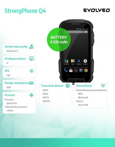 Evolveo StrongPhone Q4 4 500 mAh battery