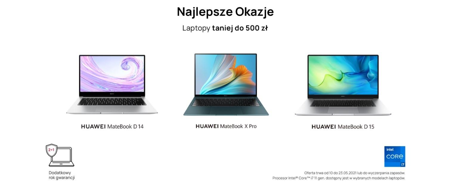 Matebookowy maj na stronie Huawei.pl