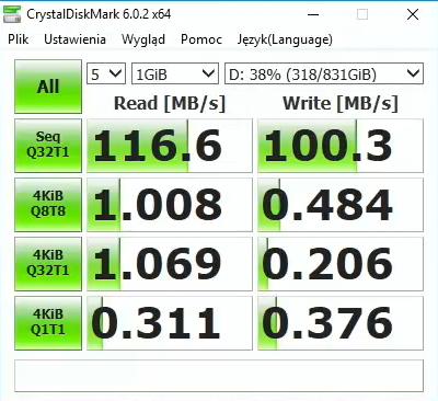 ASUS FX705 GD - test dysku Seagate FireCuda 1 TB