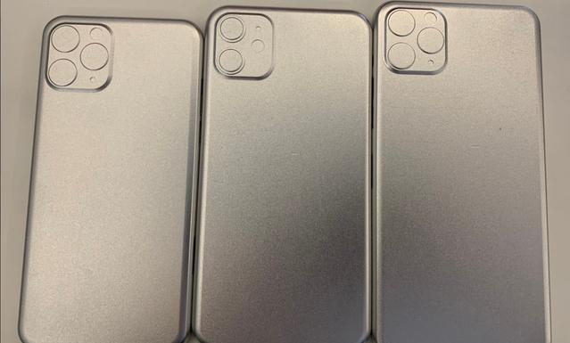 iPhone'y z tyłu będą posiadać trzy aparaty w niecodziennym ułożeniu (źródło: twitter @markgurman)