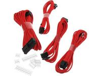 PHANTEKS Zestaw oplatanych kabli przedłużających do zasilacza (Czerwony)