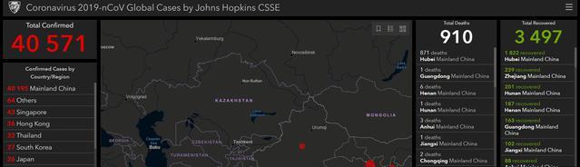 Mapa koronawirusa pokazuje, że głównym obszarem zapalnym pozostają Chiny