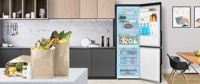 Lodówka Samsung mieści więcej niż porównywalne rozwiązania w jej rozmiarze