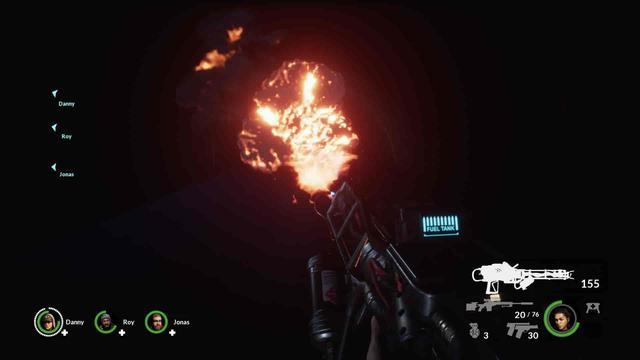 Earthfall - Miotacz ognia jak z filmu Obcy