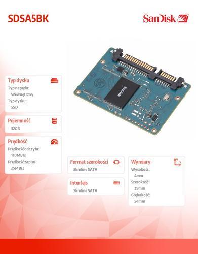 SanDisk SSD slimSATA MLC 32GB