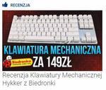 Recenzja Klawiatury Mechanicznej Hykker z Biedronki