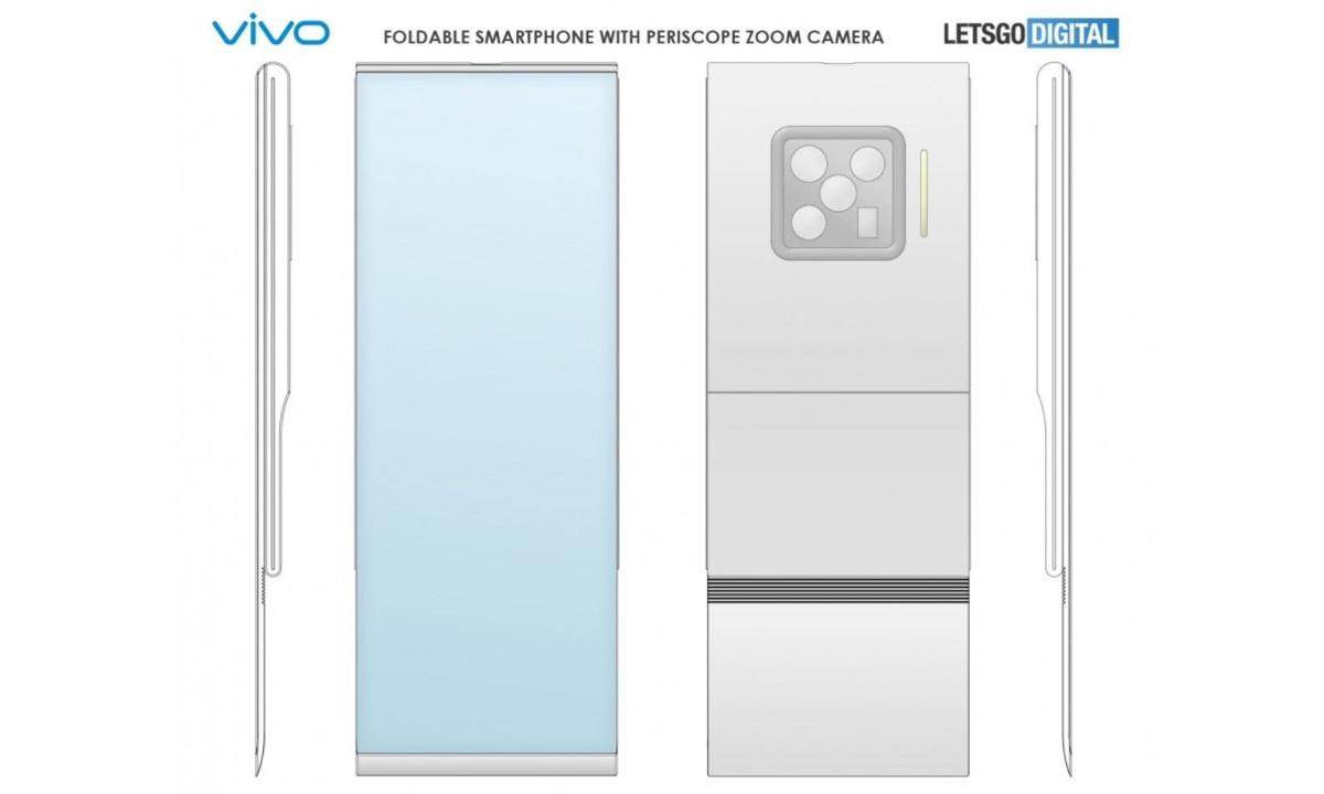 Wizualizacja zwijanego telefonu Vivo