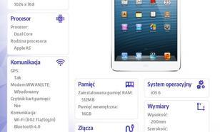 Apple iPad mini WiFi+Cellular 16GB Biało-srebrny MD543