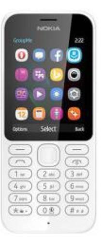 Nokia 222 Dual Sim Biały (A00026076)