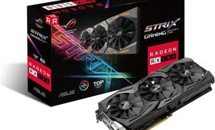Asus Radeon RX 580 ROG Strix GAMING TOP edition 8GB GDDR5 (256 bit), DVI-D, 2xHDMI, 2xDisplayPort, BOX (ROG-STRIX-RX580-T8G-GAMING)