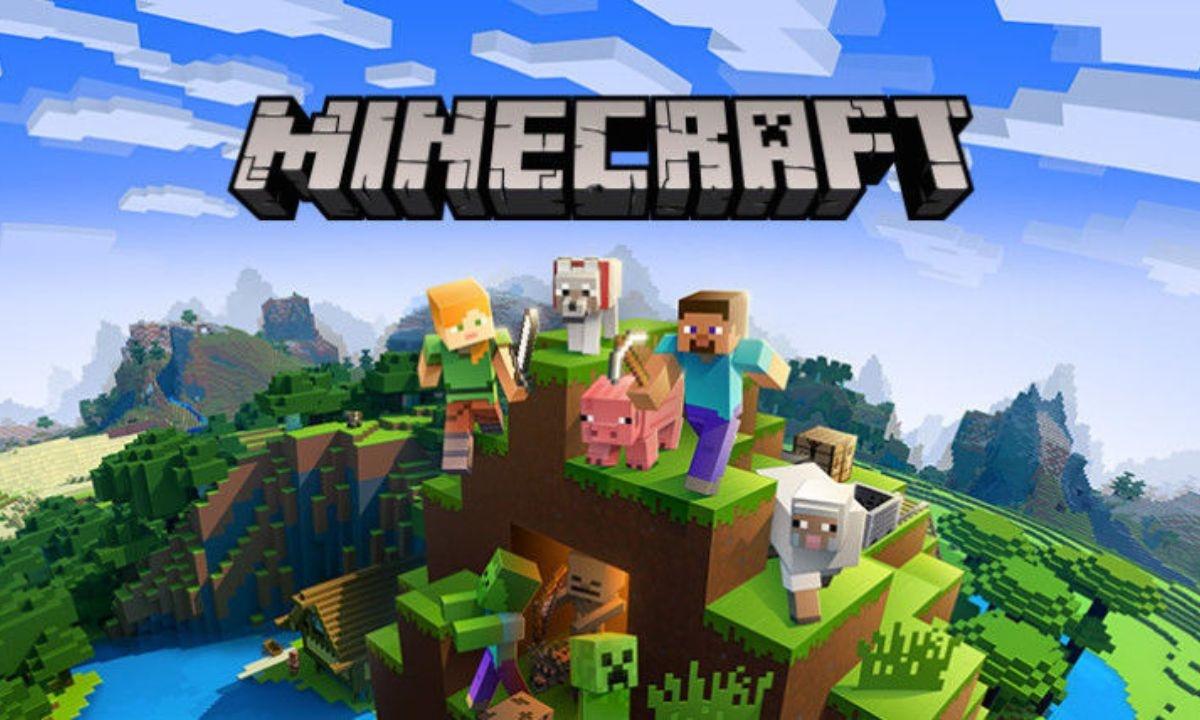 Grafika promująca grę Minecraft na Xboxa