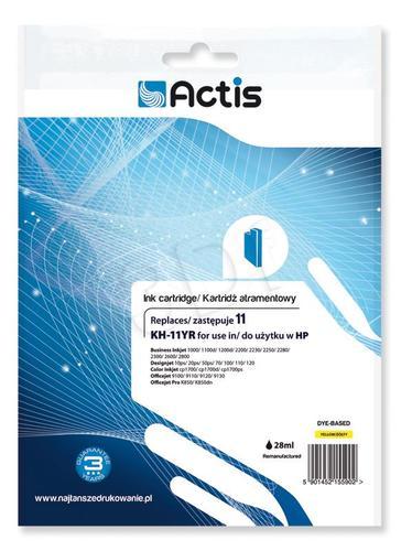Actis KH-11YR tusz żółty do drukarki HP (zamiennik HP 11 C4838A) Standard