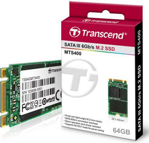 Transcend M.2 2242 64GB SATA3 (TS64GMTS400)
