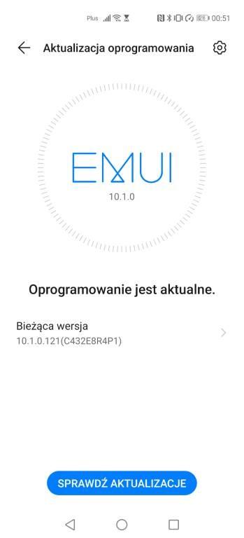 EMUI 10.1 to najnowsza wersja