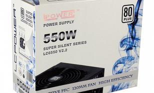 LC-Power ZASILACZ 550W LC6550 V2.2 80+ Bronze 120mm 4 x SATA 2 x PATA 1x PCIe BLACK Active PFC