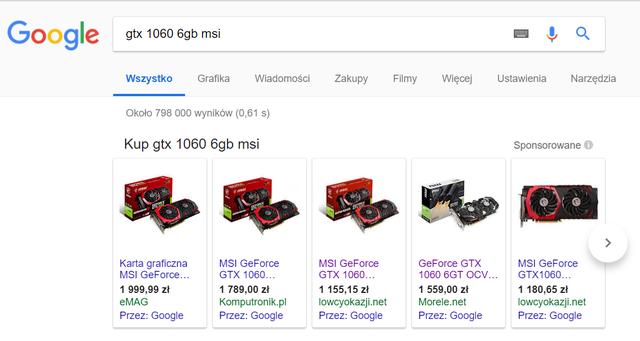 fałszywy sklep w reklamach google