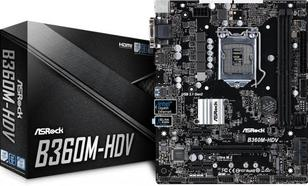 Asrock B360M-HDV ( LGA 1151 ; 2x DDR4 DIMM ; Micro ATX ; Nie )