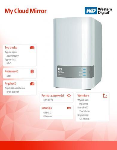 Western Digital MyCloud M. 4TB 3,5'' (2x2TB) WDBZVM0040JWT