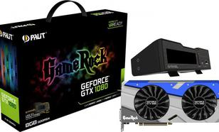 Palit GeForce CUDA GTX1080 GameRock z G-Panel 8GB GDDR5X (256 Bit) HDMI, DVI, 3xDP, BOX (NEB1080T15P2GP)