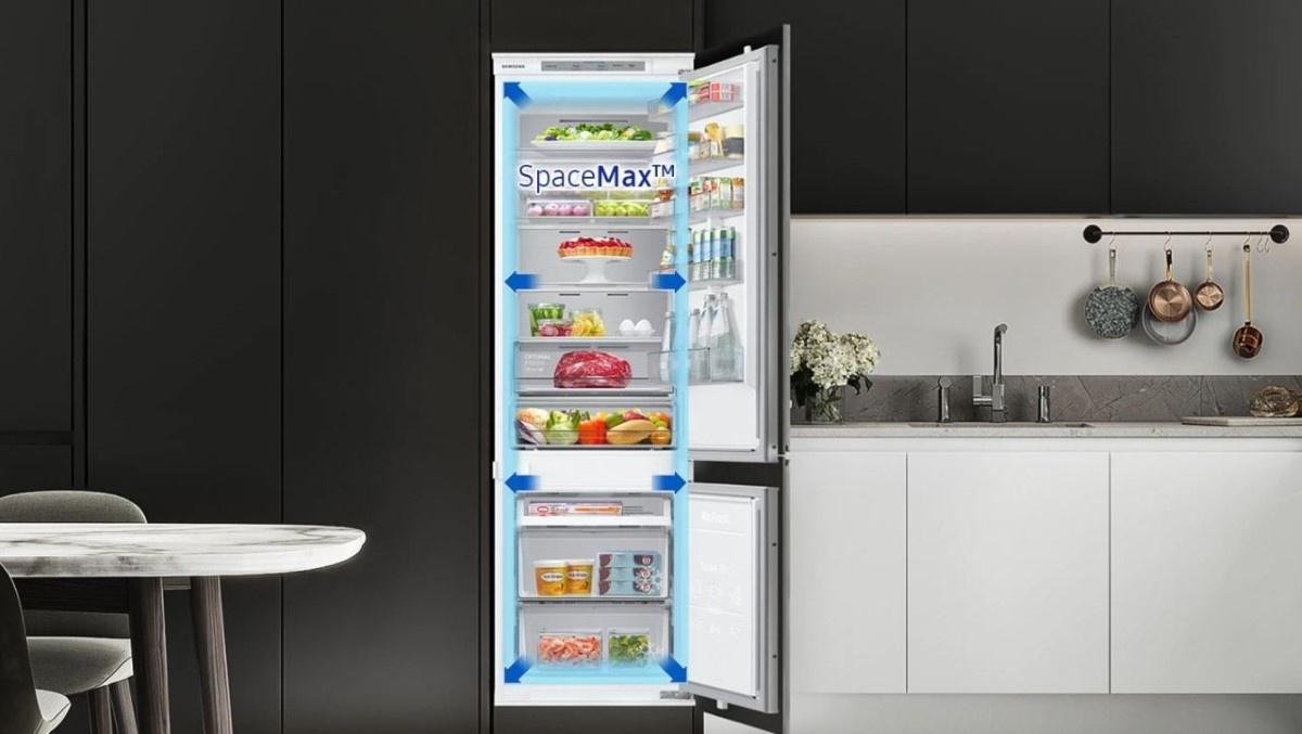 Poznaj lodówki Samsung SpaceMaxTM, które mają większą pojemność przy zachowaniu standardowych wymiarów zewnętrznych