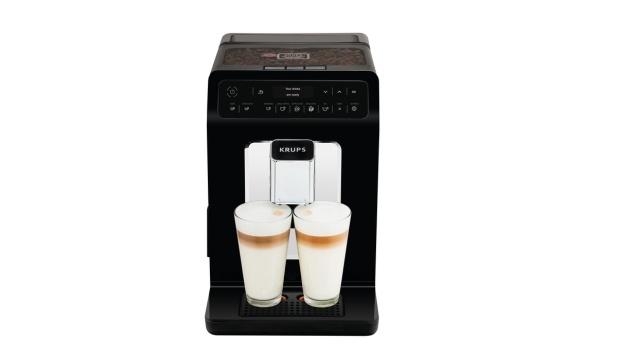Ekspres Krups Evidence pozwala parzyć dwie kawy mleczne jednocześnie