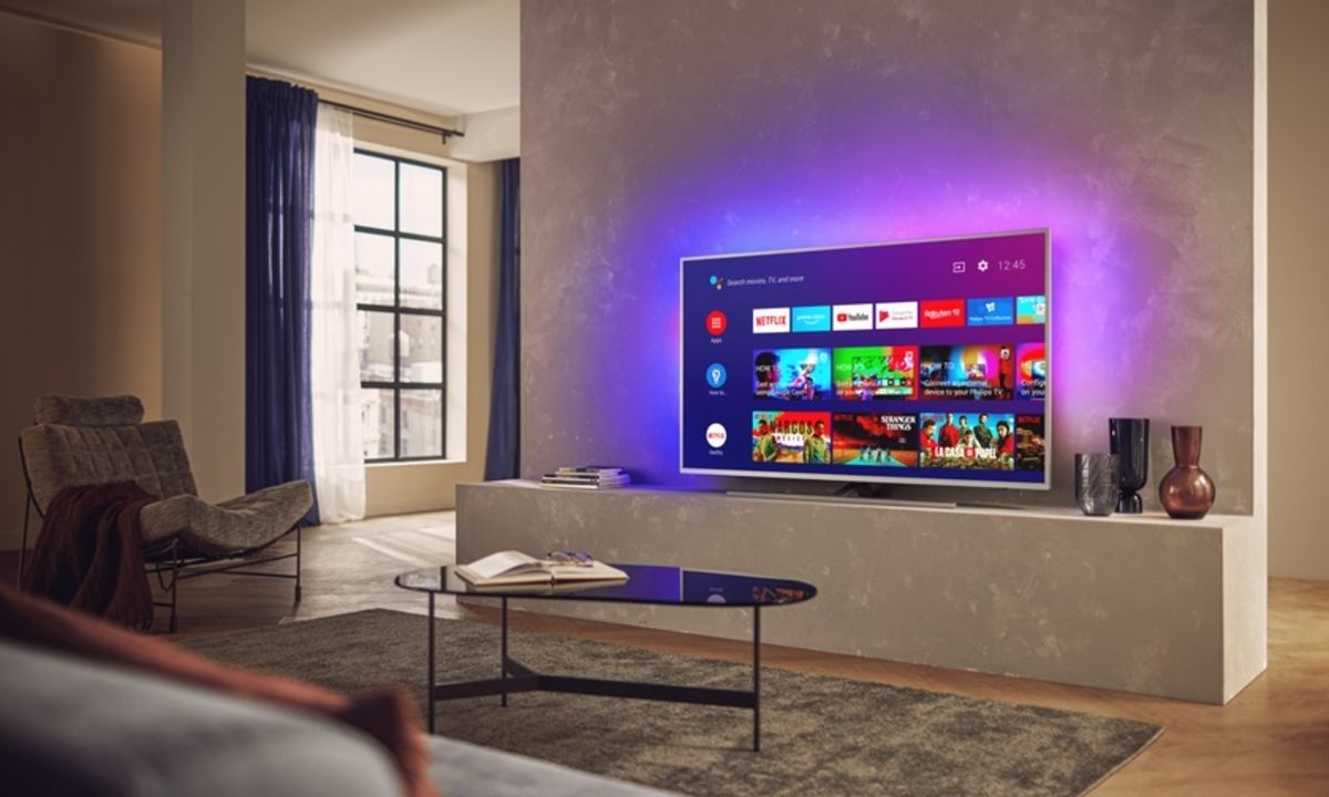 Grafika promująca telewizor Philips