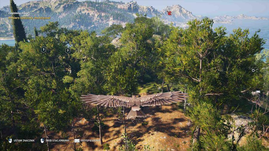 Assassin's Creed Odyssey - Orzeł bardzo pomaga w oznaczania celów