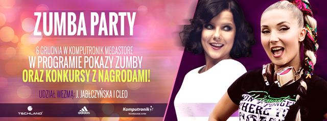 Nie przegapcie Zumba Party - już 6 grudnia spotkacie Cleo i Joannę Jabłczyńską!