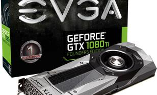 EVGA GeForce GTX 1080 Ti Founders Edition 11GB GDDR5X (352 bit), HDMI, 3x DP, BOX (11G-P4-6390-KR)