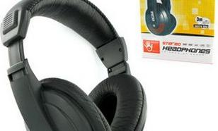 4World stereo z wygodnymi nausznikami czarne, 3m (4164)