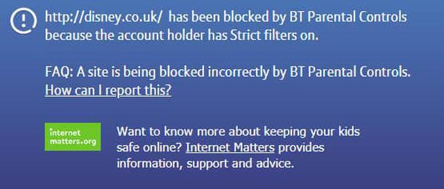 Informacja o blokadzie witryny