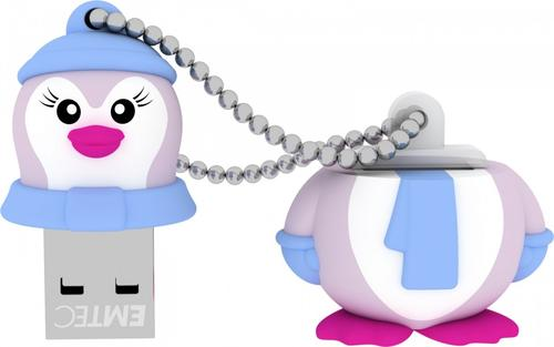 EMTEC Pendrive 8GB Lady Penguin The Animalitos