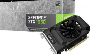PNY Technologies GeForce GTX 1050 2GB GDDR5 (128 Bit) HDMI, DVI, DP, BOX (GF1050GTX2GEPB)