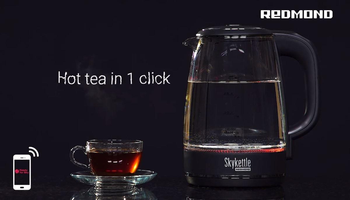 Inteligentny czajnik Redmond SkyKettle RK-G200S-E na filmie promocyjnym