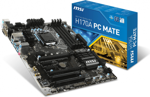 MSI H170A PC MATE, H170, DualDDR4-2133, SATA3, SATAe, HDMI, DVI, VGA,USB3.1, ATX (H170A PC MATE)