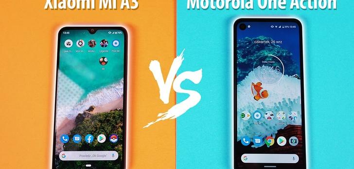 Motorola One Action vs Xiaomi Mi A3 - Który Android One do 1000 zł?