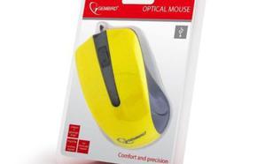 Gembird optyczna USB czarno/żółta (MUS-101-Y)