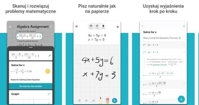 Math Solver pozwala rozpisywać równania z poziomu smartfona
