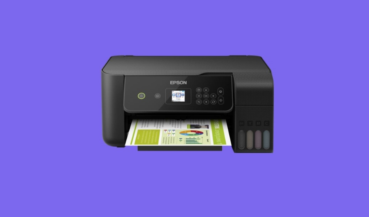 Drukarka Epson L3160 na fioletowym tle