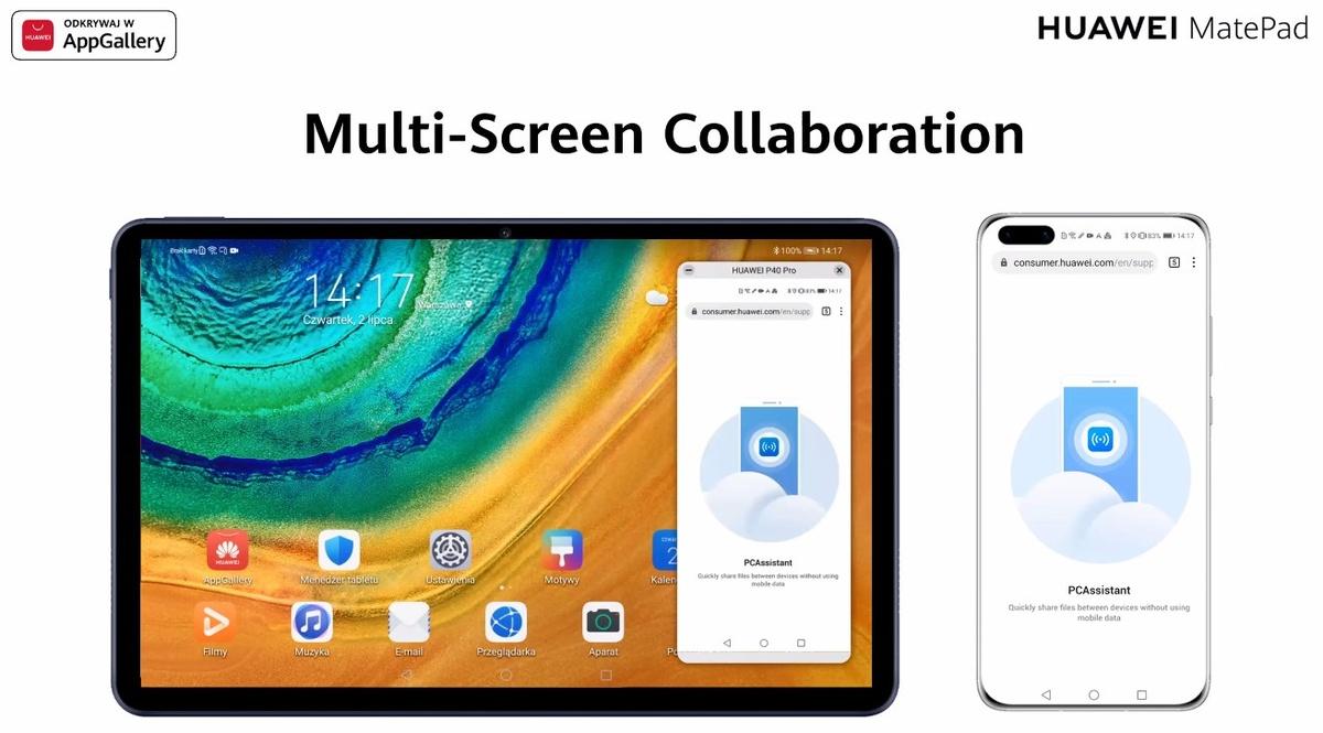 Huawei MatePad zaoferuje współpracę ze smartfonem