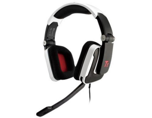 Thermaltake Tt eSPORTS Słuchawki dla graczy - Shock White, mikrofon
