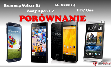 Samsung Galaxy S4 vs Sony Xperia Z vs HTC One vs LG Nexus 4 [PORÓWNANIE]