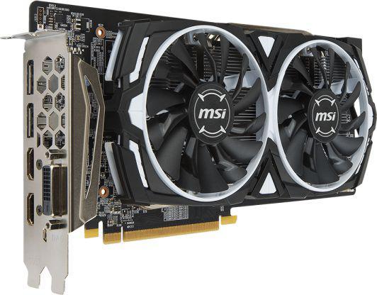 MSI Radeon RX 580 ARMOR 8G OC, 8GB, DL-DVI-D/HDMI*2/DP*2/ATX (RX 580