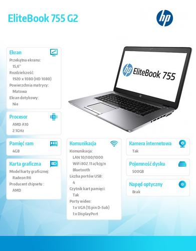 HP 755 A10-7350B W78P 500/4GB/15,6 J0X38AW