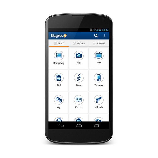 Aplikacja mobilna Skąpiec.pl na Androida