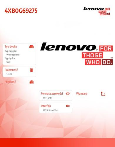 "Lenovo ThinkStation 512GB SATA 2.5"" 6Gbps SSD"